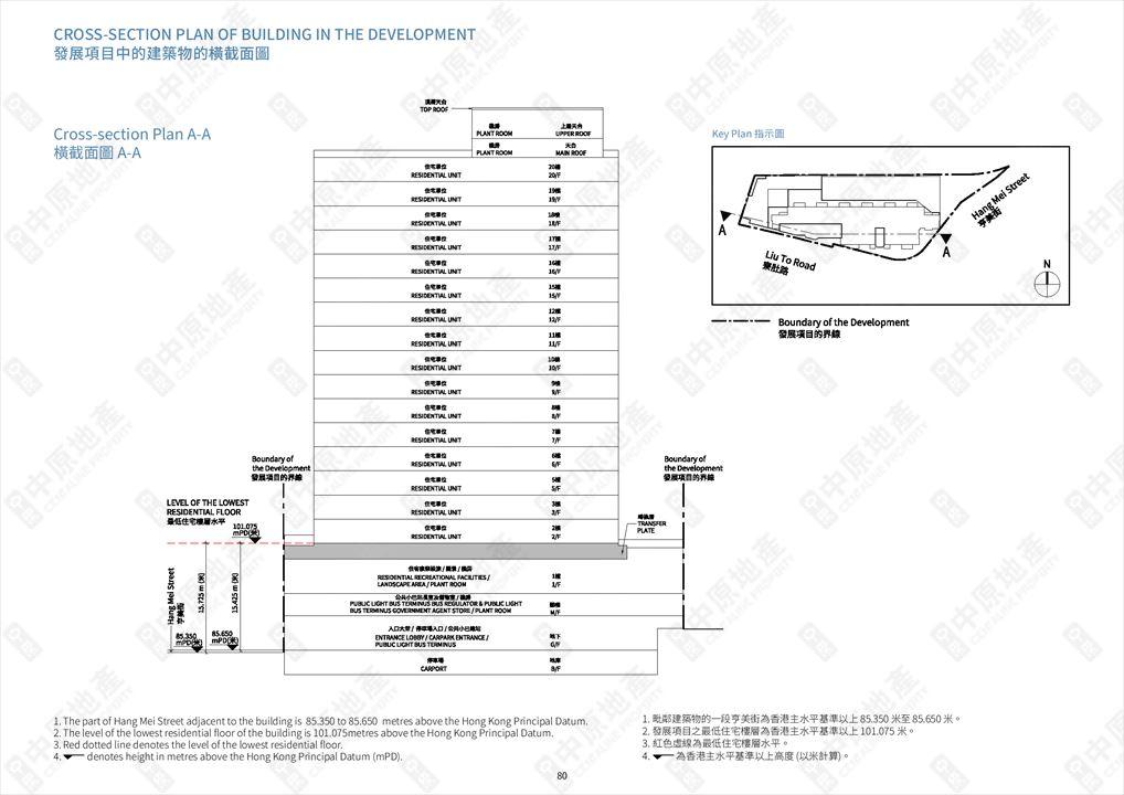 The Met. Azure of Cross-section plan