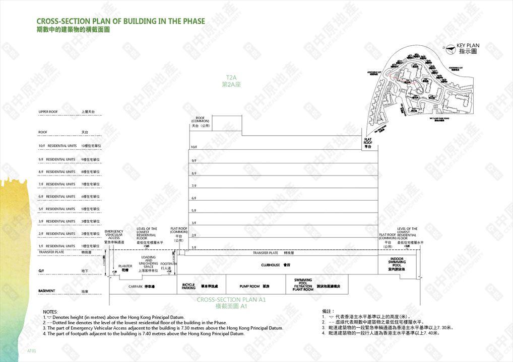 Wetland Seasons Bay Phase 1 of Cross-section plan